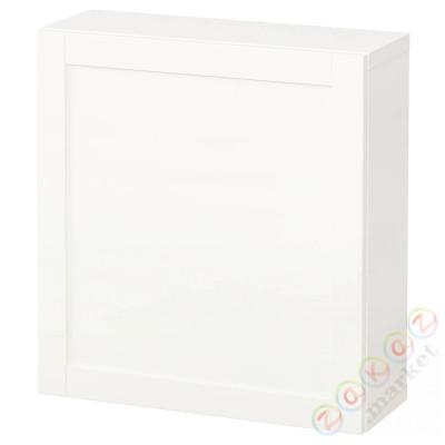 ⭐BESTÅ⭐Комбинация навесных шкафов, белый/Ханвикен белый⭐ИКЕА-19429676